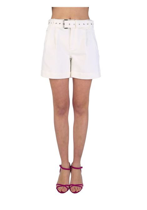 WHITE SHORTS WITH BELT MICHAEL DI MICHAEL KORS |  | MS19008BUG100WHITE