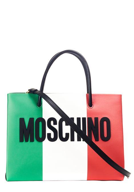 BORSA A TRACOLLA ITALIAN SLOGAN MULTICOLOR MOSCHINO | Borse | 745680241888
