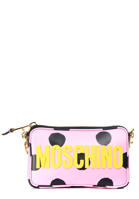 PINK BAG WITH LEATHER POLKA DOTS PRINT MOSCHINO | Bags | 748280222207