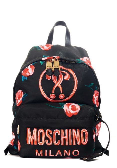 BLACK BACKPACK WITH ALL OVER ROSE PRINT MOSCHINO |  | 762882111555