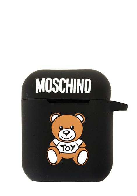 AIRPODS CASE BLACK WITH FRONT MOSCHINO TOY PRINT MOSCHINO |  | 77808301A1555