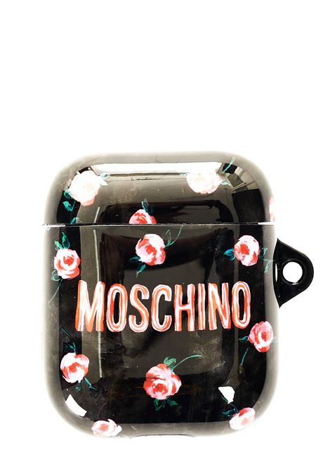 AIRPODS CASE BLACK WITH FRONT LOGO PRINT MOSCHINO |  | 778783022888