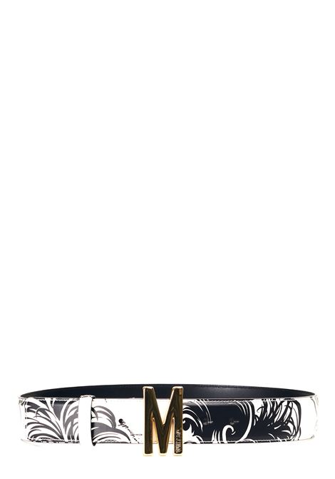 BLACK AND WHITE BELT WITH M GOLD LOGO MOSCHINO |  | 804880291002