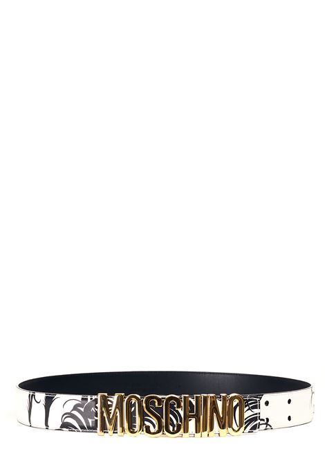BLACK AND WHITE BELT WITH GOLD LOGO MOSCHINO |  | 805080291002