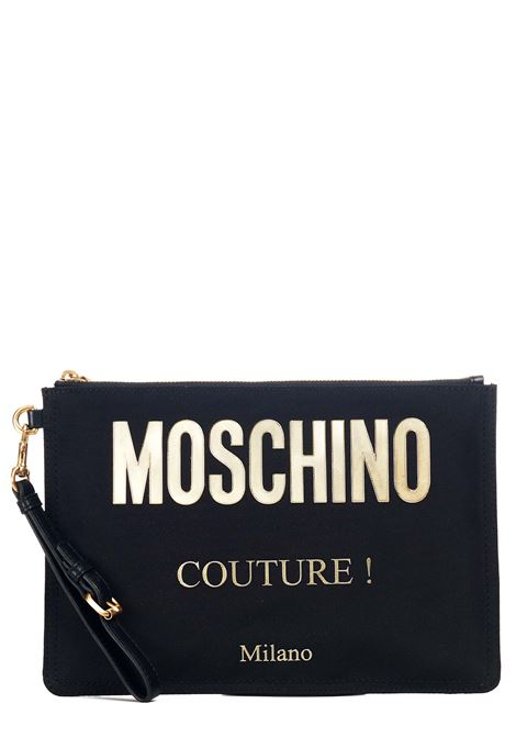 BLACK NYLON POCHETTE MOSCHINO |  | 840782051555