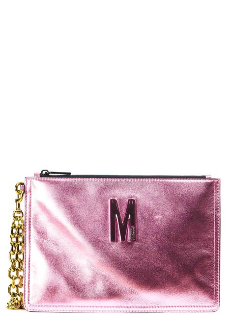 PINK LAMINATED POCHETTE WITH LEATHER LOGO MOSCHINO |  | 842280111207