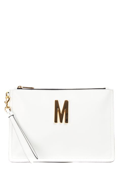 WHITE POCHETTE WITH LEATHER LOGO MOSCHINO |  | 843180080001