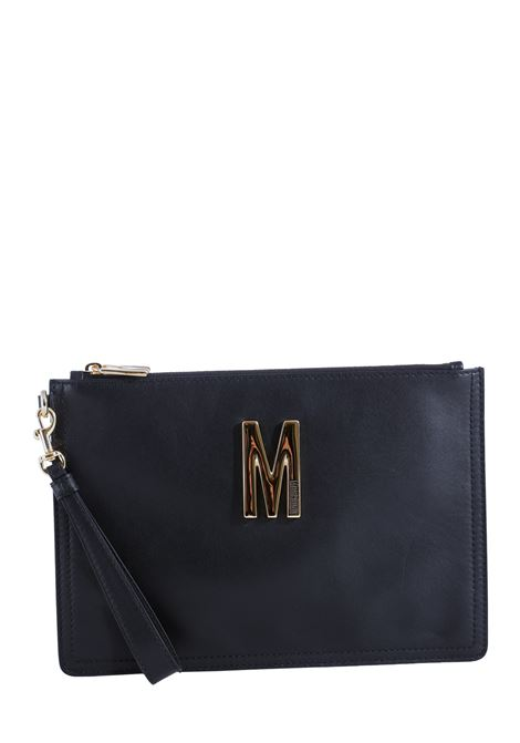 BLACK POCHETTE WITH LEATHER LOGO MOSCHINO |  | 84318008555