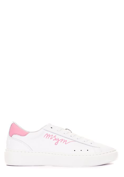 SNEAKERS BIANCHE IN PELLE MSGM | Sneakers | 3041MDS1103812