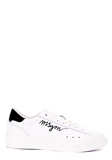 SNEAKERS BIANCHE IN PELLE MSGM | Sneakers | 3041MDS1103899