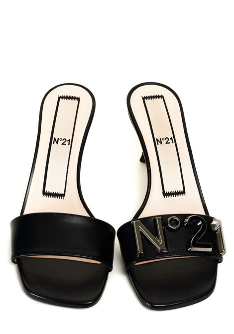 LEATHER MULES WITH LOGO N°21 | Sandals | 21ECP0NV11012X020