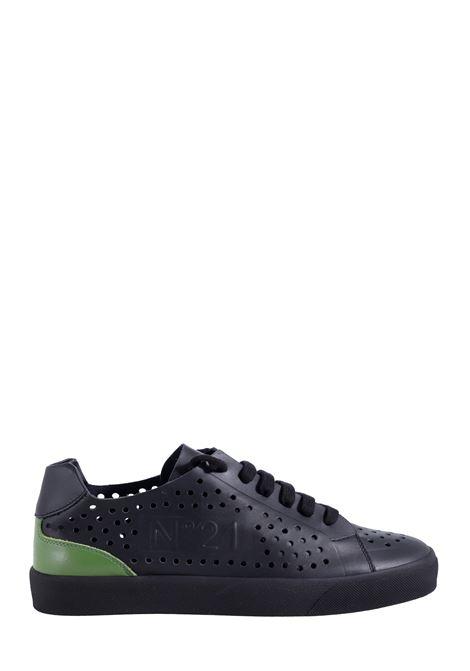 SNEAKERS IN PELLE NERA FORATA N°21 | Sneakers | 21ESU01530153NV001