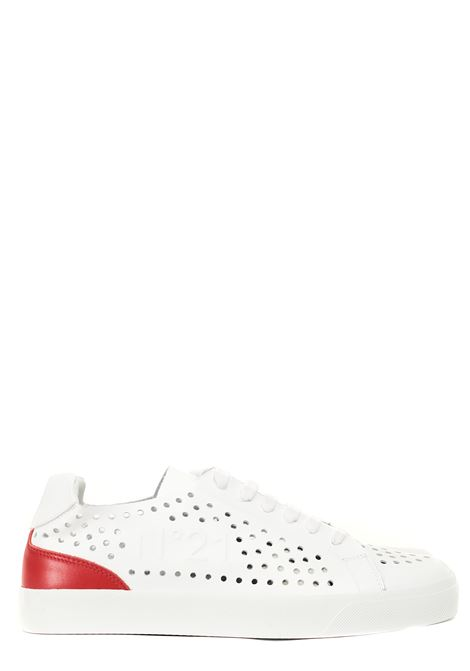 WHITE SNEAKERS IN PERFORATED LEATHER N°21 | Sneakers | 21ESU01530153WR01