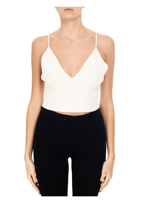 TOP BIANCO CROPPED IN MAGLIA Nude | Top | 110153601