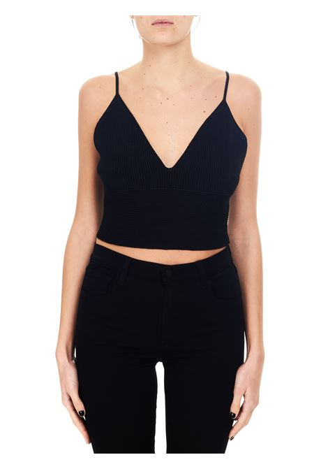 BLACK CROPPED KNIT TOP Nude |  | 110153609