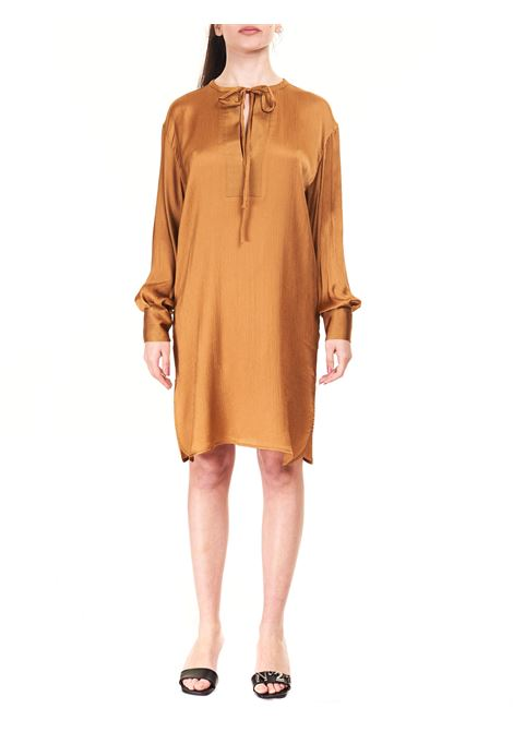 CAMEL DRESS WITH FRONT BOW Nude |  | 1103507299