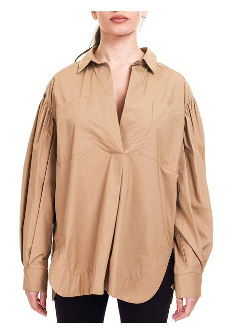 TAUPE COTTON SHIRT Nude |  | 110351220