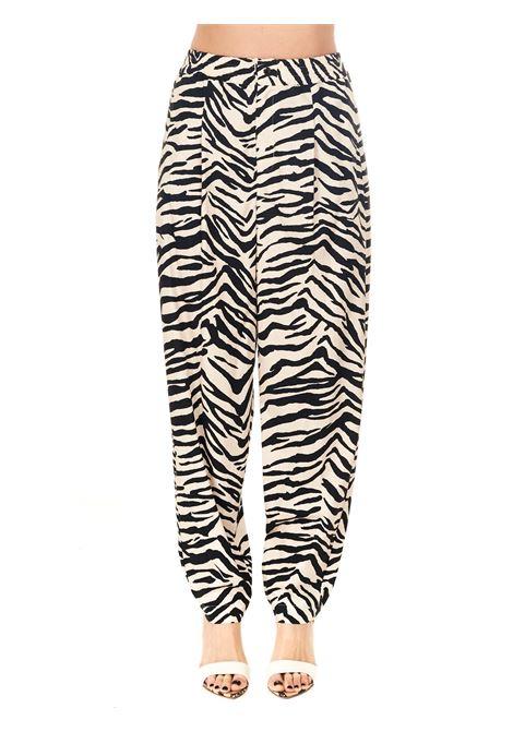 HIGH WAIST COTTON PRINTED PANTS Nude | Pants | 1103521300