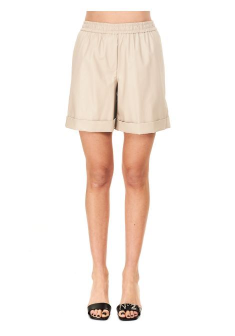 BERMUDA IN SIMIL PELLE Nude | Shorts | 1103559165
