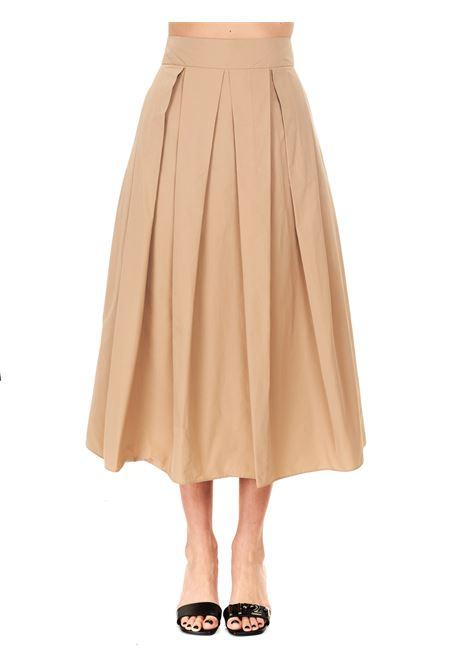 LARGE BEIGE PLISSÉ SKIRT Nude | Skirts | 110356620
