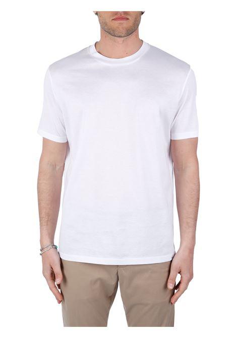 T-SHIRT BIANCA IN COTONE PAOLO PECORA | T-shirt | F07140541101