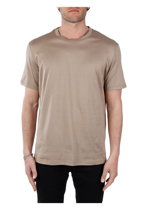 T-SHIRT TORTORA IN COTONE PAOLO PECORA | T-shirt | F07140541492