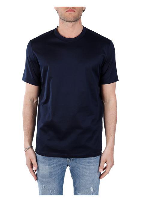 T-SHIRT BLU IN COTONE PAOLO PECORA | T-shirt | F07140546685
