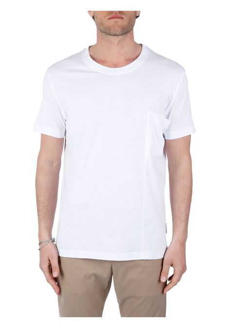 T-SHIRT BIANCA IN COTONE PAOLO PECORA | T-shirt | F09140511101