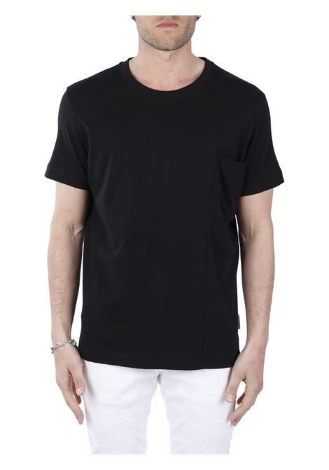 T-SHIRT NERA IN COTONE PAOLO PECORA | T-shirt | F09140519000