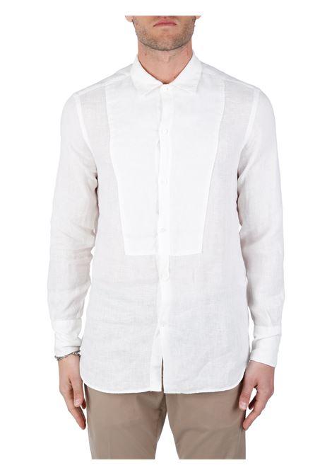 WHITE LINEN SHIRT PAOLO PECORA |  | G08136061101