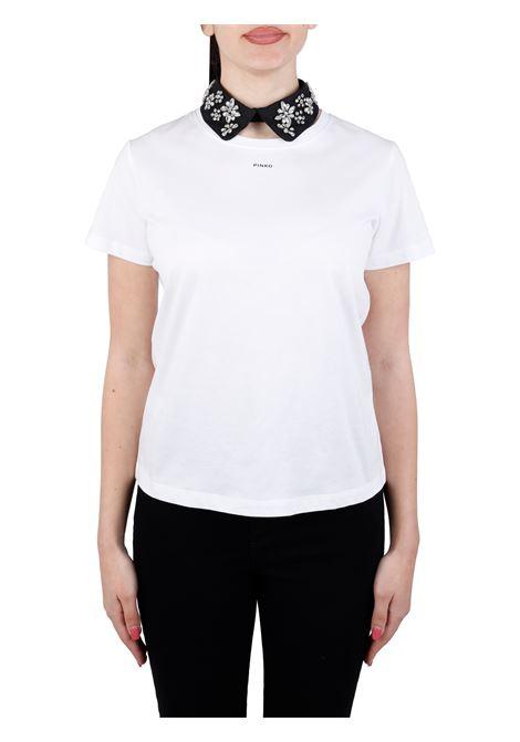 T-SHIRT ALLEGATO IN JERSEY DI COTONE PINKO | T-shirt | ALLEGATO1G164LY4LXZI4