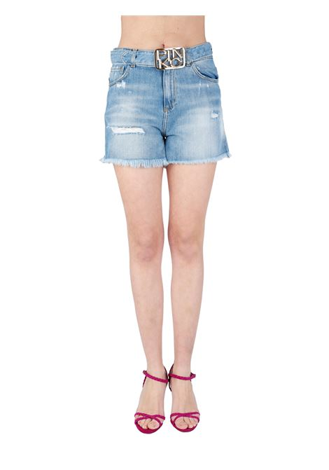 SHORTS BROOKLYN IN DENIM VINTAGE PINKO | Shorts | BROOKLYN1J10N0Y649G14