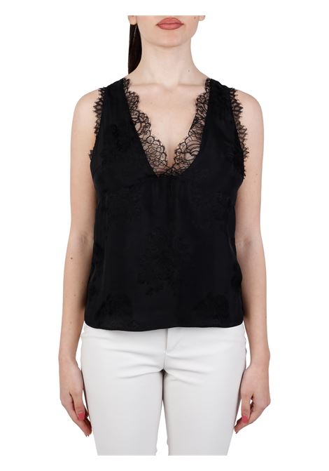 EXAGGERATED TOP IN BLACK JACQUARD PINKO   Top   ESAGERATO1G15W98405Z99