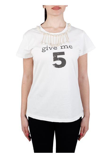 T-SHIRT ESTROVERSO IN COTONE PINKO | T-shirt | ESTROVERSO1G15NUY6YXZ14