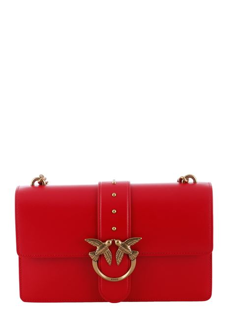 BORSA ROSSA LOVE BAG SIMPLY IN PELLE PINKO | Borse | LOVECLASSICICONSIMPLY6CL1P2281Y6XTR43
