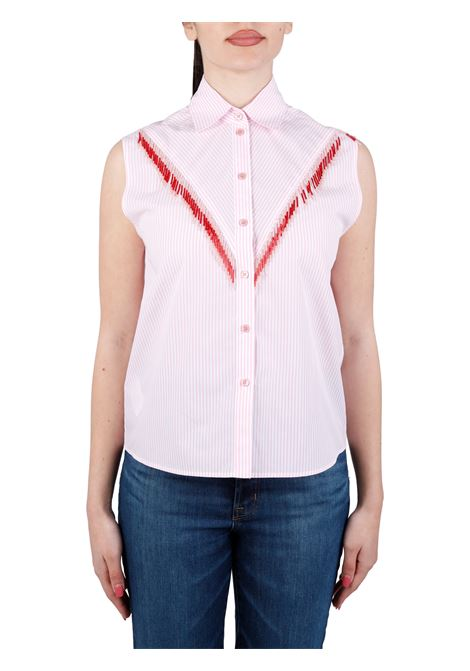 CAMICIA QUOTATO IN POPELINE DI COTONE PINKO | Camicie | QUOTATO1G15WC8427ZN3
