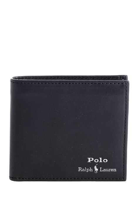 PORTAFOGLIO NERO IN PELLE POLO RALPH LAUREN | Portafogli | 405803865002