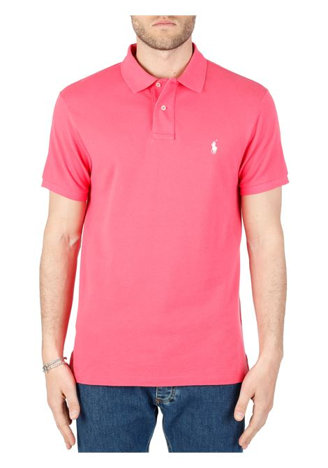 FUCSIA COTTON POLO WITH FRONT LOGO EMBROIDERY POLO RALPH LAUREN |  | 710795080012