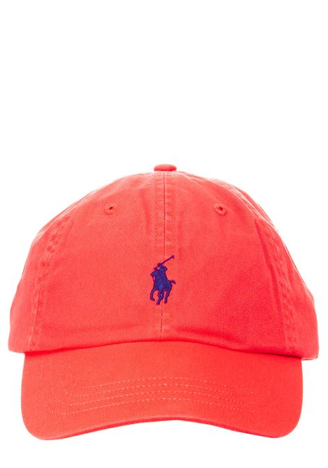 RED COTTON HAT WITH FRONT LOGO EMBROIDERY POLO RALPH LAUREN |  | 710811338010