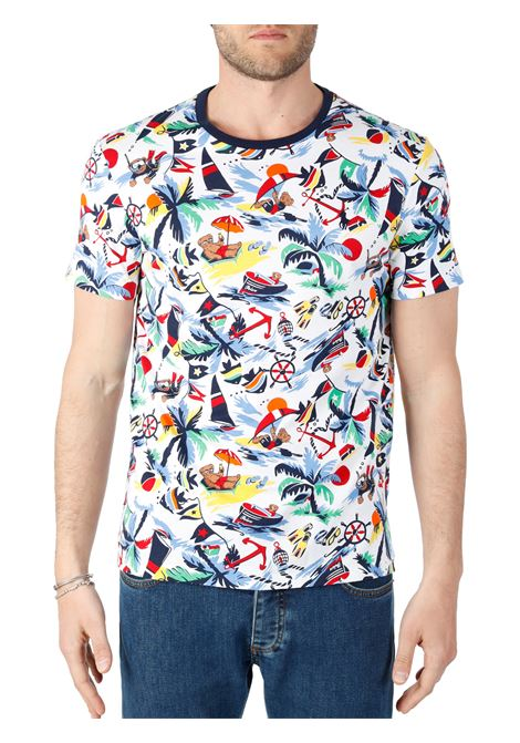 T-SHIRT CON STAMPA ALL OVER POLO BEAR POLO RALPH LAUREN | T-shirt | 710835281001