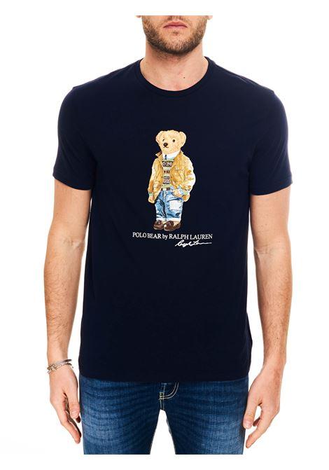 T-SHIRT BLU POLO BEAR POLO RALPH LAUREN | T-shirt | 710835761001