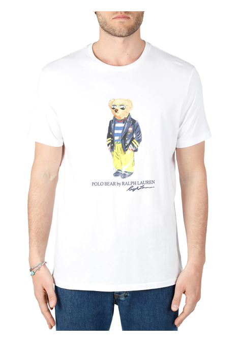 T-SHIRT BIANCA MARINA POLO BEAR IN JERSEY POLO RALPH LAUREN | T-shirt | 710837306002