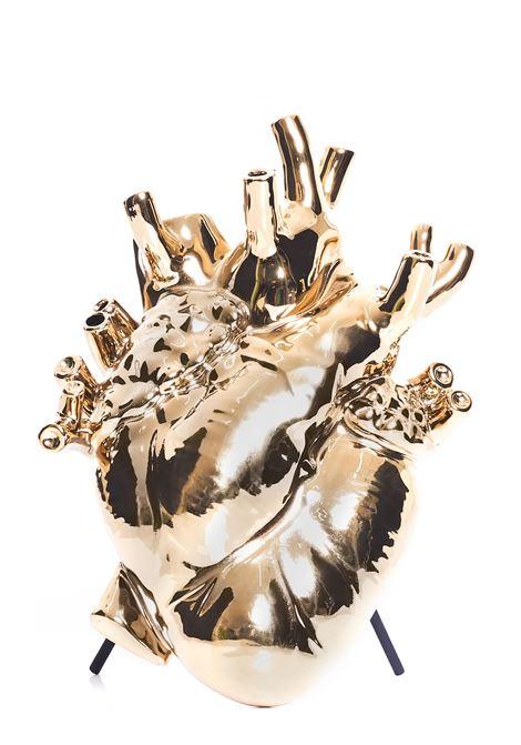 GOLD HEART VASE IN PORCELAIN LOVE IN BLOOM SELETTI |  | 09921ORO