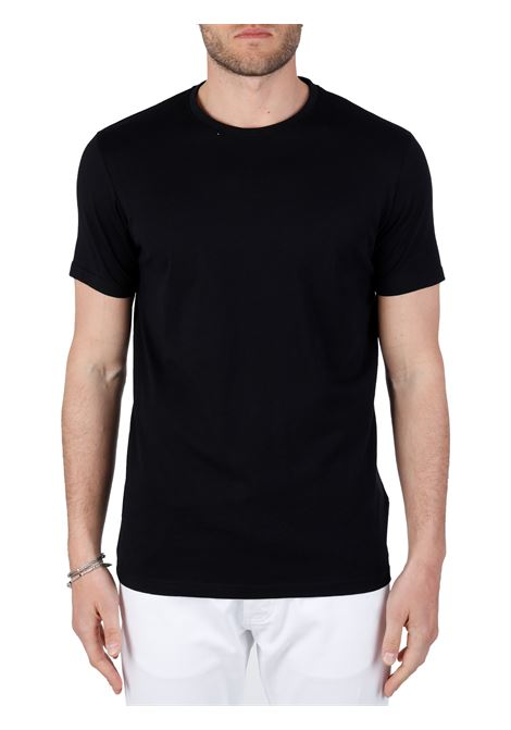 T-SHIRT NERA IN COTONE SOLID | T-shirt | 21103651799000