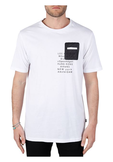 WHITE T-SHIRT WITH RETRO PRINT SOLID |  | 21105248110601