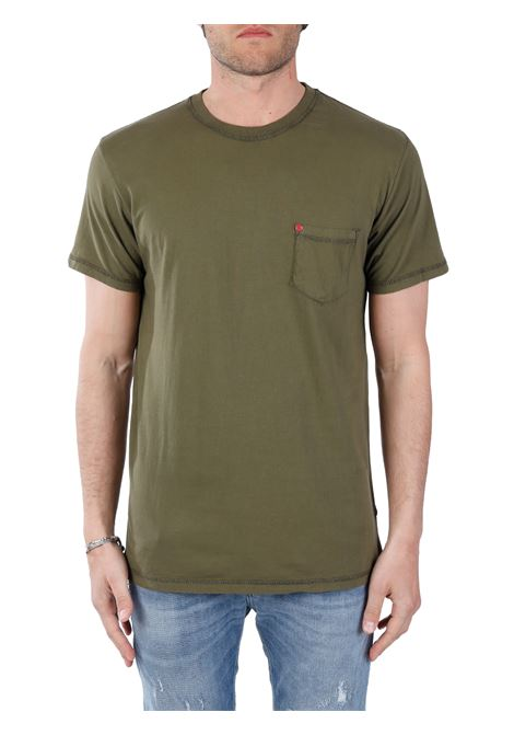 T-SHIRT VERDE IN COTONE SOLID | T-shirt | 21105260190512