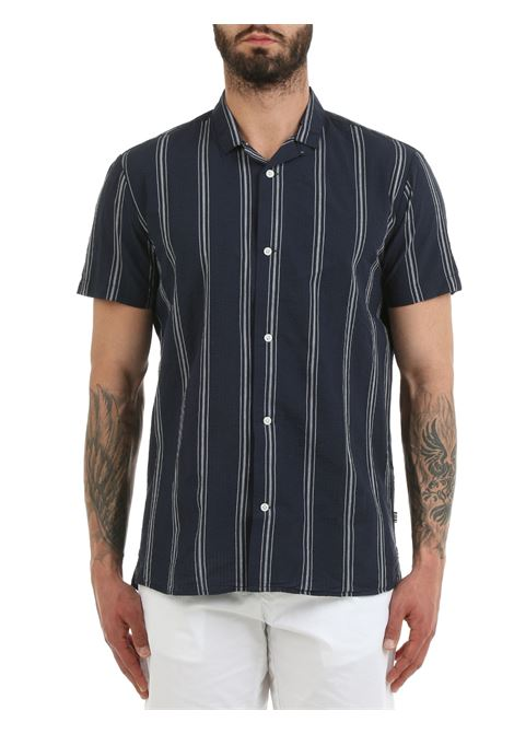 SHIRT WITH ALL OVER PRINT TAILORED | Shirts | 21201937BLU