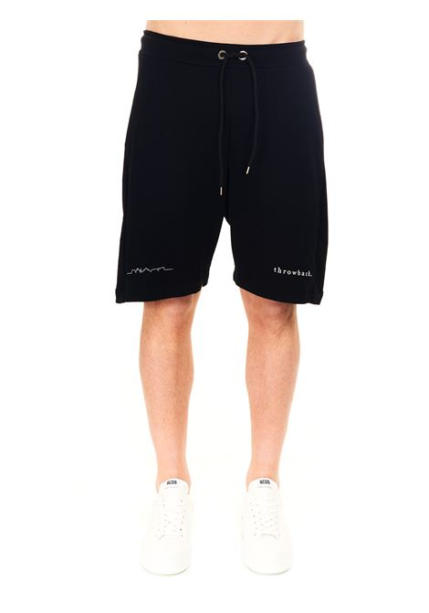 BERMUDA JOGGING NERI IN COTONE THROWBACK | Shorts | TBPLOGOBLACK