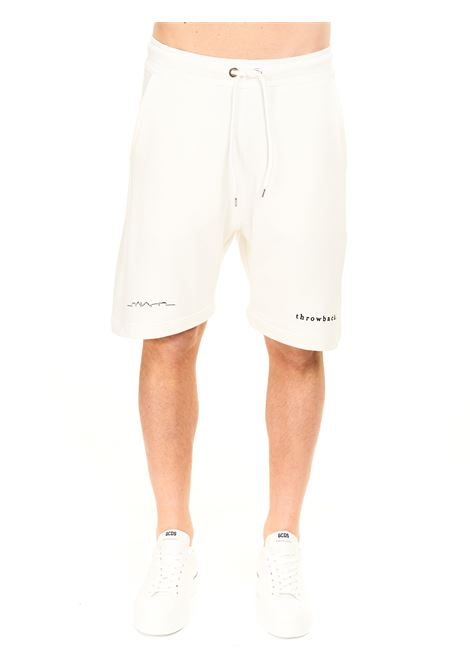 BERMUDA JOGGING  BIANCHI IN COTONE THROWBACK | Shorts | TBPLOGOWHITE