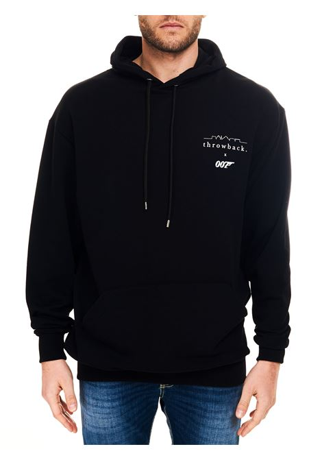 BLACK SWEATSHIRT WITH FRONT LOGO PRINT IN COTTON THROWBACK |  | TBS007LOGOBLACK